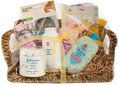 Large Johnsons Baby Gift Hamper With Cadbury Milk tray 180g Box Chocolate for Mum