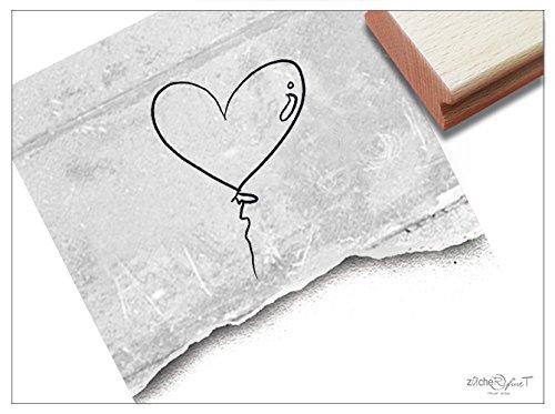 Stempel - Zauberhafter Motivstempel Herz als Luftballon ♡ - Bildstempel für Dinge, die Dir am Herzen Liegen - von zAcheR-fineT - Herzen Liege