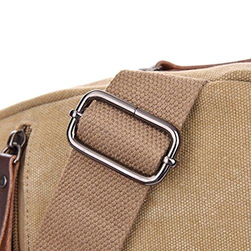 Zeafin Uomini Moda Anti-furto Borsa A Tracolla Resistente Allacqua Stile Semplice Oxford Casual Daypack Crossbody Petto Borsa A Tracolla Esterna Borsa Kaki