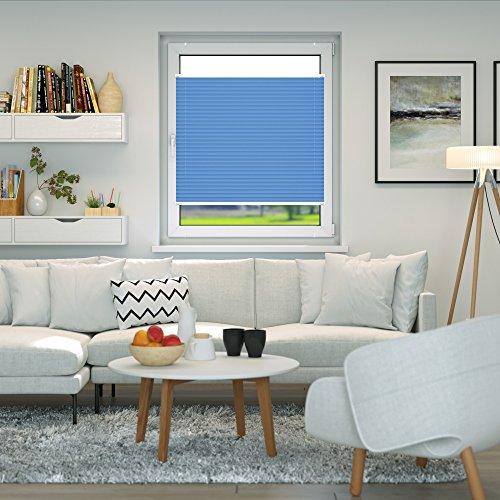 VICTORIA M Plissee Klemmfix ohne Bohren – EasyFix Größe: 60 x 200 cm, Farbe: blau - 4