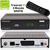 Opticum AX 570 Freenet TV Digitaler DVB-T2 Receiver inkl. XAIOX HDMI Kabel in Schwarz