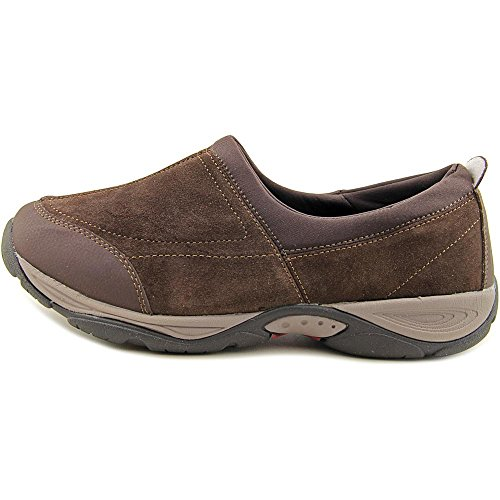 Easy Spirit EZ Stretch étroit Daim Mocassin Dark Brown