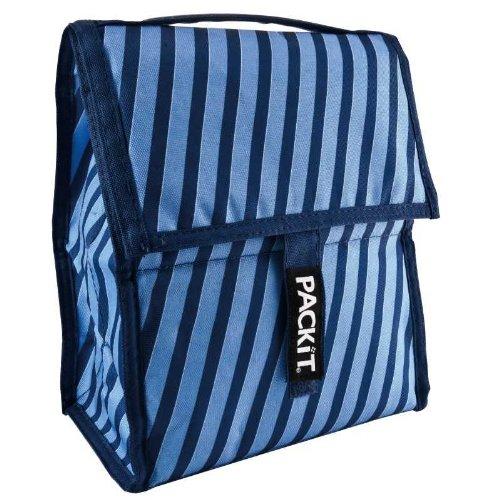 PackIt Frigorifero portatile per il pranzo 27 x 21 x 115 design strisce blu