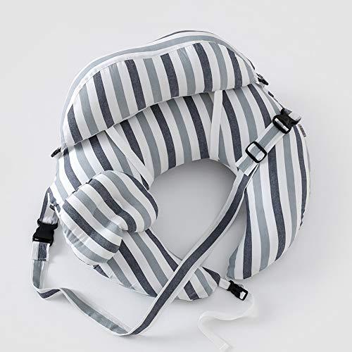 MYRCLXR Stillkissen mit Füllung für klein Baby Lagerungskissen Baby Seitenschläferkissen Schwangerschaftskissen zum Schlafen Baumwolle,Blau