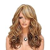 Mode Perücke Kapuze Lange Lockiges Haar Flauschig Gradient Diagonal Pony Personalisierte Frisuren