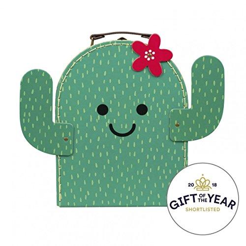 Koffer Kaktus Pappe grün 26x20x9cm (Möbel Bello)