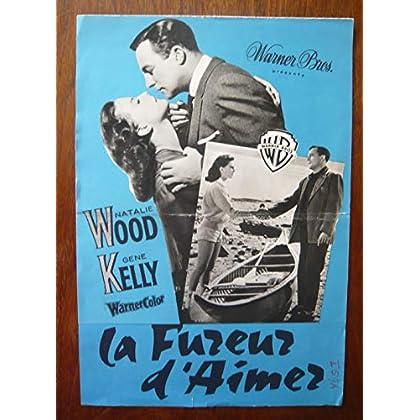 Dossier de presse de La fureur d'aimer (1958) – 24x34 cm - Film de Irving Rapper avec Natalie Wood, Gene Kelly – Photos N&B + résumé du scénario – Bon état.