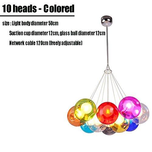 LLY Farbig Glaskugel Licht Kreativ Kinder Schlafzimmer LED Blase Kronleuchter, L -