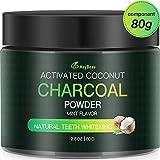 Aktivkohle Pulver Zahnaufhellung 80g MayBeau Groß Premium Kokosnuss Natürliche Coconut 100% Activated Charcoal Teeth Whitening Powder Bleaching Zahnreinigung für...