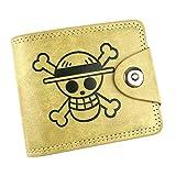 Cosstars One Piece Anime Borsellino Pelle Sintetica Piccolo Portafoglio Classico Trifold Porta Carta di Credito /2
