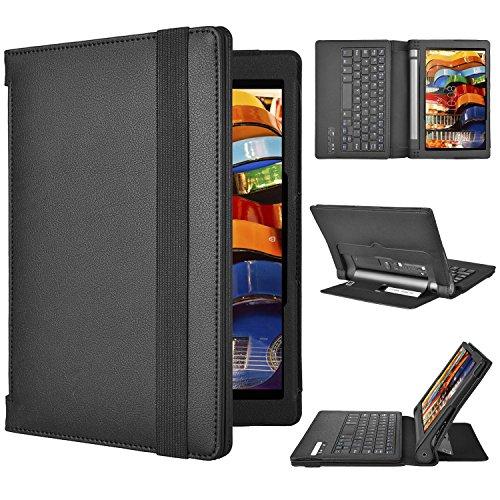 ELTD Lenovo YOGA Tablet 3-10 QWERTZ Tastatur, Bluetooth Tastatur (QWERTZ Tastatur) für Lenovo YOGA Tablet 3-10, Not für Lenovo YOGA Tablet 3-10 Pro - mit Standfunction, Schwarz