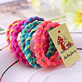 #3: Maple Store (pack of 20) PREMIUM Quality Hair Bands Elastic Rubber Bands Accessories For Girls/Women