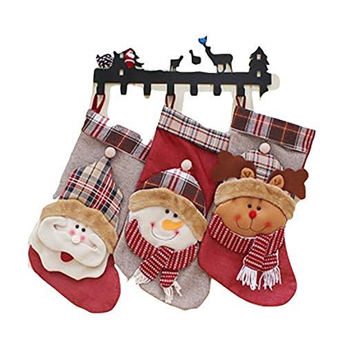 ZOE Conjunto 3 Grandes Navidad Calcetines Navidad