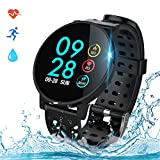 COULAX Smartwatch Fitness Armband Uhr IP68 Wasserdicht 1,3 Zoll Uhr Voller Touch Screen Fitness Trac