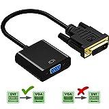 Friencity Actif DVI vers VGA Adaptateur Convertisseur, Mâle vers Femelle M / F DVI-D Link 24 + 1 vers VGA Câble Adaptateur Vidéo Prend en Charge 1080P pour PC DVD Moniteur HDTV Display
