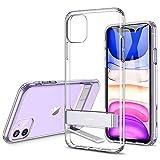 ESR Cover per iPhone 11, Custodia con Cavalletto in Metallo [Supporto Verticale e Orizzontale] [Protezione Rinforzata] Retro Morbido in TPU Flessibile per iPhone 11 2019, Trasparente