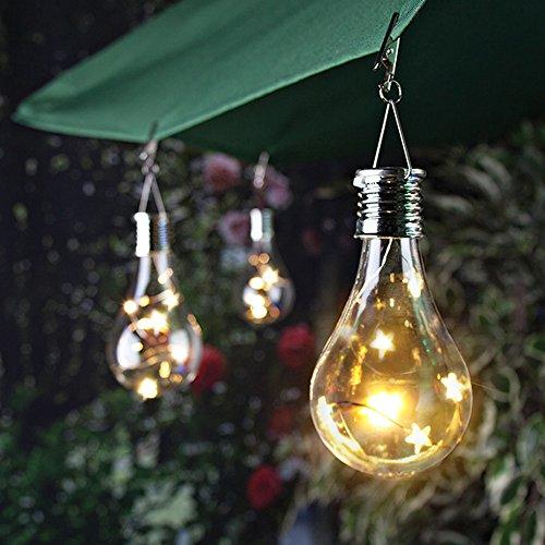 Wasserdichte Solar Glühbirne Drehbare Garten Outdoor Garten Camping Hanging LED Licht Lampe Birne (B)