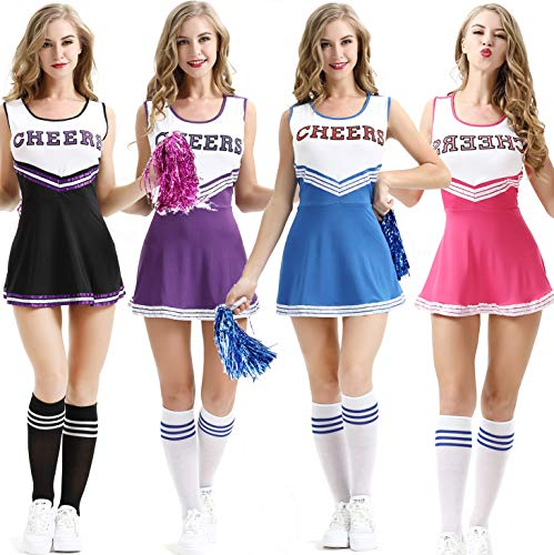 KAIMENG Womens Cheerleader Costume Cosplay Costume Sexy Outfit Mini Suit and ()
