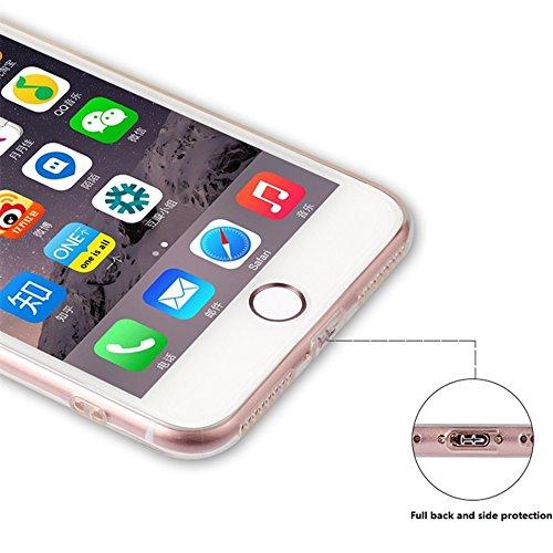 "iPhone 6S TPU Hülle,iPhone 6S Handytasche HandyHülle, BoomTeck Silikon Hülle Transparent Schutzhülle für 4.7"" Apple iPhone 6S/iPhone 6 Slim Weiche Unsichtbare Gel-Skizze Stoßfest Gummi Schützende Crys 04"