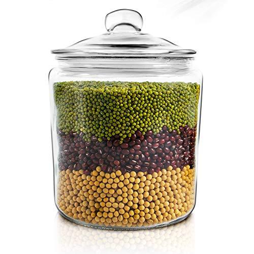 Masthome Lebensmittelbehälter mit luftdichten Deckeln, BPA-frei, langlebig, 5 Stück 1g Glass Storage Container (1g-container)