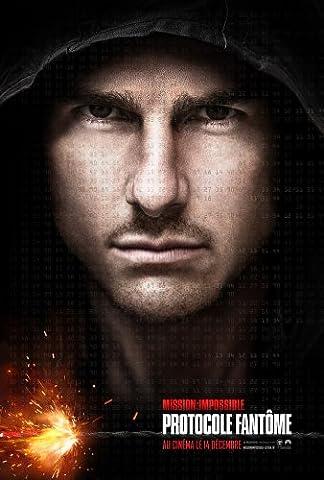 Affiche Cinéma Préventive Grand Format - Mission Impossible : Protocole Fantôme (format 120 x 160 cm pliée)