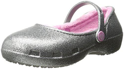 crocs Karin Sparkle Lined Clog, Mädchen Clogs, Silber (Silver 040), 23/24 EU (C7 Mädchen UK)