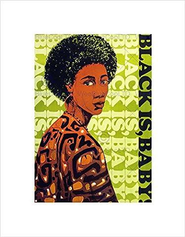POLITICAL AFRICAN AMERICAN CIVIL RIGHTS WOMAN FRAMED ART PRINT MOUNT B12X7645