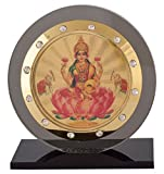 Laxmi Vasudah LVG_28 Universal Golden and Black Front Inside Framed Dashboard Idol