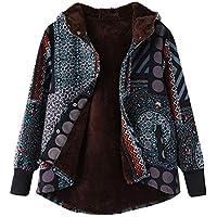 BBestseller Abrigo Invierno Mujer Chaqueta Suéter Jersey Mujer Cardigan Mujer Tallas Grandes Outwear Floral Bolsillos con Capucha de Impresión Caliente Sudadera