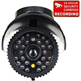 VideoSecu Fake Security Camera CCTV Home Surveillance Dummy IR Infrared Bullet Camera with Flashing Light 1RE