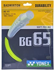 Yonex Badminton Strings BG 65, 0.70mm (Yellow)