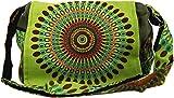 Guru-Shop Schultertasche, Hippie Tasche, Goa Tasche - Grün, Herren/Damen, Baumwolle, Size:One Size, 23x28x12 cm, Alternative Umhängetasche, Handtasche aus Stoff
