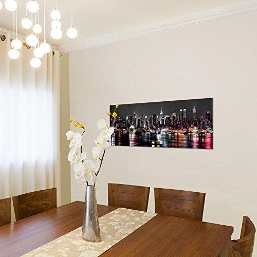 Bilder 100 x 40 cm - New York Bild - Vlies Leinwand - Kunstdrucke -Wandbild - XXL Format - mehrere Farben und Größen im Shop - Fertig zum Aufhängen - 601912a - 3