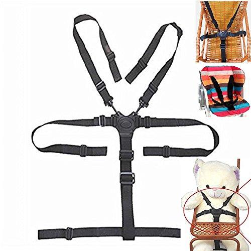 Alto seggiolone cinghie, universale per cintura/cinghie/imbracatura/per computer in legno seggiolone passeggino (bambino cintura di sicurezza a 5punti)