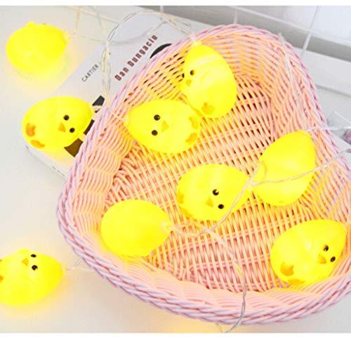 AE Bei LED-Lichterkette mit gelben Enten für den Innenbereich, dekorative Lichter für Schlafzimmer, Weihnachten, Gedenk, Valentinstag (1,5) Einheitsgröße 3.0 Meters -