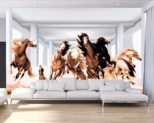 Fototapete 3d effekt anpassen 3d wallpaper Pferd im Galopp Wallpaper 3D Tapeten Wohnkultur Wohnzimmer Schlafzimmer Hintergrund Wand (Im Galopp Die Welt)