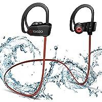 Auriculares Bluetooth Inalámbricos -TOSCiDO X18 Estéreo Deportes Auriculares Bluetooth 4.1,IPX7 A Prueba De Agua, CVC6.0 Cancelación De Ruido para iPhone X/8/7/7S/6/6S, Android Smartphones (Rojo)