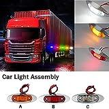 3Pcs Seitenmarkierungs Seitenmarkierungsleuchte Neu Bernstein Wasserdichtes 12V/24V LED Leuchte Lampe für Auto LKW Anhänger SUV Van LED Rot/Gelb/Weiß