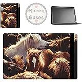 Grupo de ponis islandeses Tablet Funda para iPad, Samsung Galaxy Tab, y más marrón Apple iPad Air 2 Flip Cover
