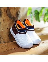 XL_etxiezi Calcetines para niños pequeños con Calcetines Deportivos, Blanco Rojo_22