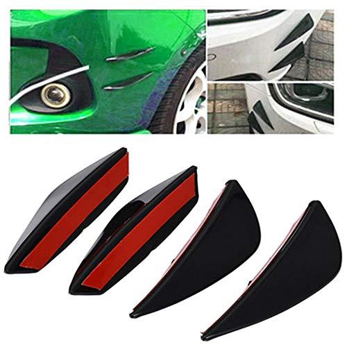 iuyem Carbon-Faser-Luft-Messer-Stoßdämpfer-Teiler-Flossen-Körper-Spoiler für allgemeines Auto Lager & Stützlager-Kits