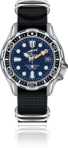 Chris Benz Deep 500m Automatik CB-500A-B-NBS Reloj Automático para hombres Reloj de Buceo