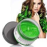 Volwco Crema de color temporal para el cabello, Volwco 120 g de cera para colorear el cabello, lavable, desechable, para hombres y mujeres