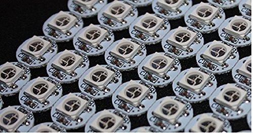 Preisvergleich Produktbild 10 x WS2812B auf Platine RGB 5050 LED mit integriertem Controller WS2811