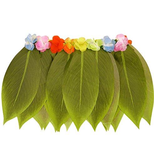 Der Hula-Rock der Inselbewohner-Mode-Frauenblatt mit Blumen-Damen-Fantasie-Halloween-Party-Abnutzungs-Rock eine Gr��e