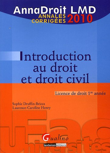 Introduction au droit civil : Annales corrigées