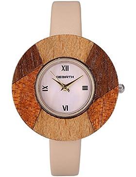 AMPM24 Damen Armbanduhr Quarz Analog Holz Uhr WAA969