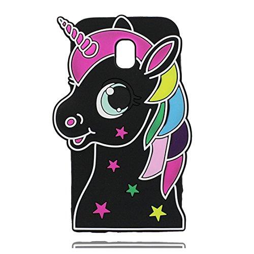 Galleria fotografica EarthNanLiuPowerTu Samsung Galaxy J5 2017 Custodia, 3D Cute Cartoon unicorno unicorn animale morbido silicone caso di gomma antiurto Copertura per Samsung Galaxy J5 2017 - Unicorn