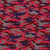 Fabulous Fabrics Jersey Colour Camouflage 3 rot — Meterware ab 0,5m — zum Nähen von Bekleidung