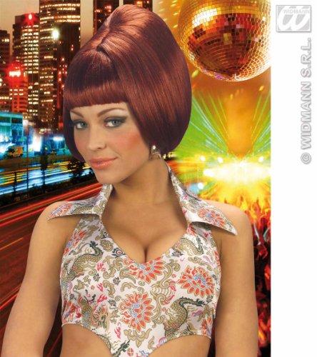 Girl Seventies Kostüm - WIDMANN S.R.L. 70SPARTYGIRLBURGUNDYWIG